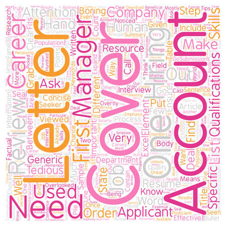 attention grabbing: Cover Letter For Accountants text background wordcloud concept