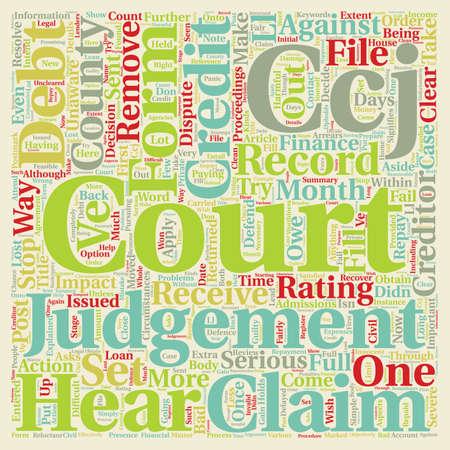 County Court Judgements Explained text background wordcloud concept