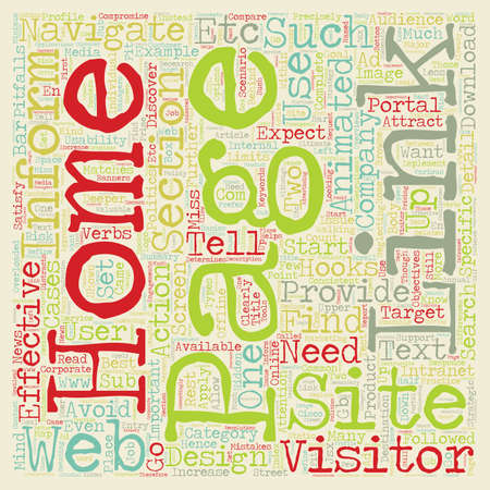 Common Mistakes Home Page Design text background wordcloud concept