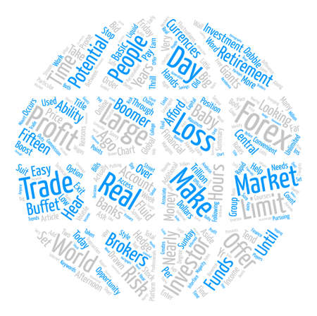 Just Who Trades Forex Currencies text background word cloud concept Illustration