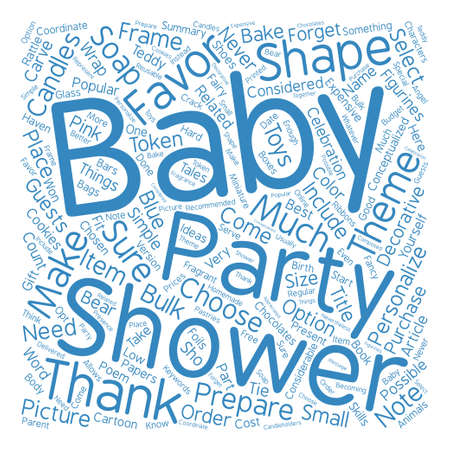How To Select The Best Baby Shower Party Favors text background word cloud concept