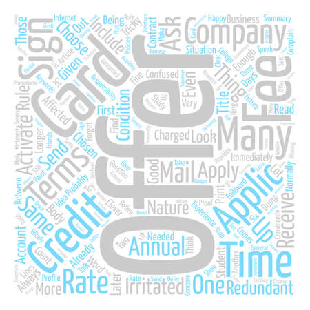 How To Dump out Credit Card Offers Word Cloud Concept Text Background