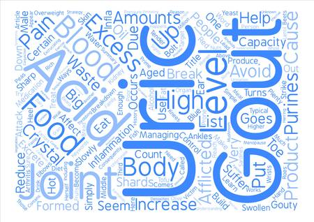 excess: Learn About Gout And Simple Ways To Treat It Word Cloud Concept Text Background Illustration