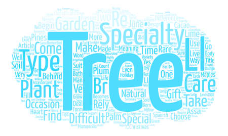 Specialty Trees A Beginner s Guide Word Cloud Concept Text Background Ilustrace