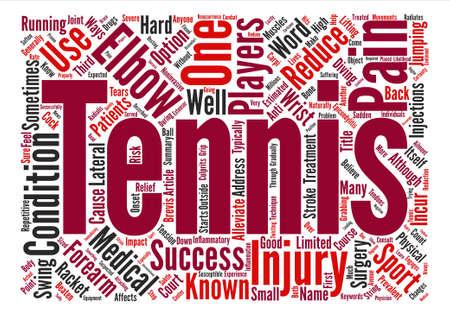 Tennis Elbow Affects Millions But It Can Be Beaten text background word cloud concept Ilustração