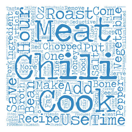 to paula: How to Make a Seductive Chili text background word cloud concept