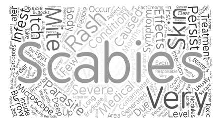 undesirable: Long Term Undesirable Effects of Scabies Word Cloud Concept Text Background