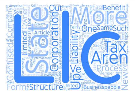 LLC FAQ text background word cloud concept Ilustrace