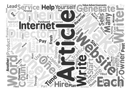 recently: How to Make Money with Article Directories Word Cloud Concept Text Background