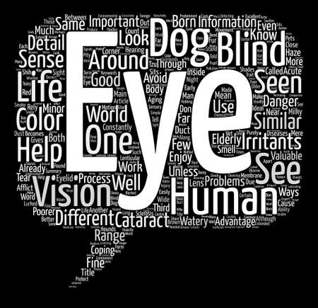 Through Your Dogs Eyes Word Cloud Concept Text Background