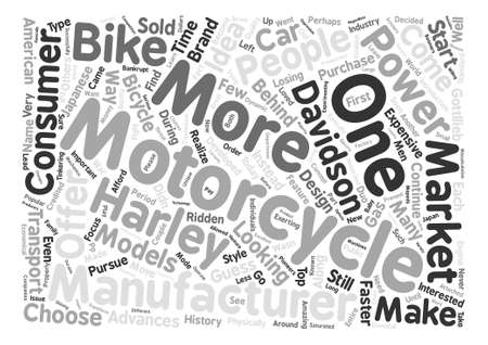 exerting: The History of Motorcycles text background word cloud concept