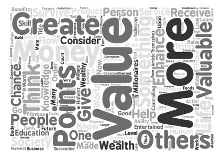 millions: How The Millionaires Made Their Millions text background word cloud concept