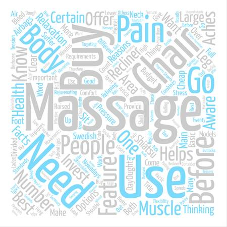 before: What You Need To Know Before You Buy A Massage Chair Word Cloud Concept Text Background