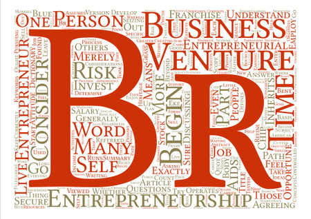 What is Entrepreneurship text background word cloud concept