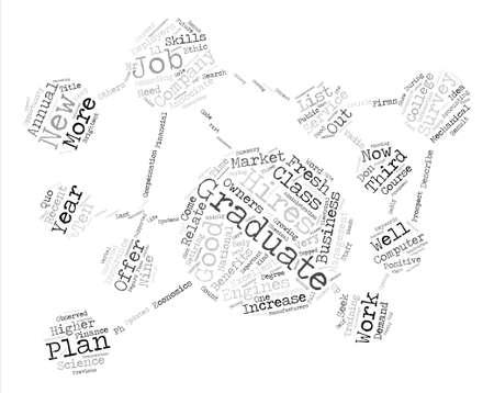 Quo Vadis New Graduate text background word cloud concept Illustration