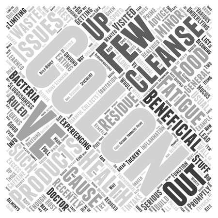 colon cleansing: Colon cleanse products Word Cloud Concept