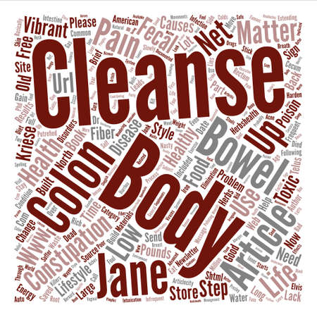Is Your Colon Toxic text background word cloud concept Illustration