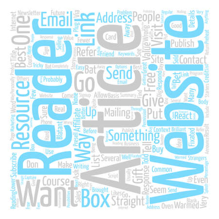 Ways A Reader Can Respond To Your Article text background word cloud concept