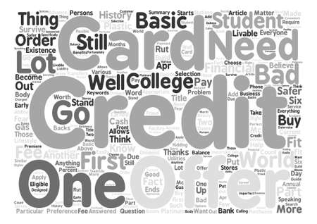 financially: Know Which Credit Card Offer You Should Go For Word Cloud Concept Text Background Illustration