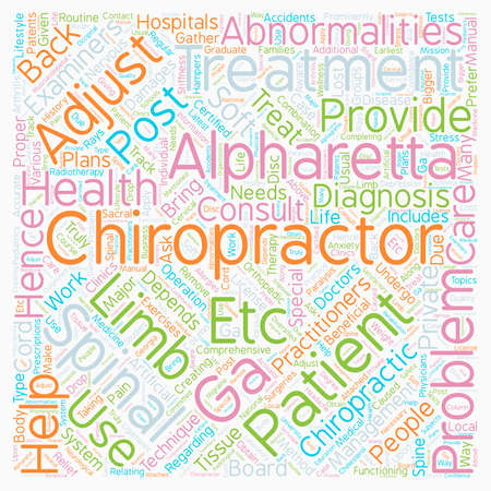 depended: Chiropractor alpharetta ga text background wordcloud concept