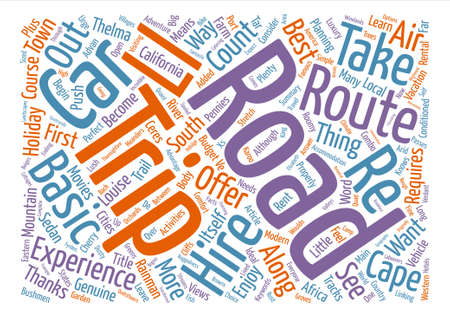Route By Car Word Cloud Concept Text Background