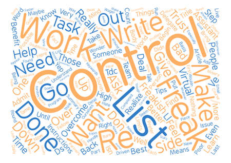 So I m a Control Freak Word Cloud Concept Text Background Illustration