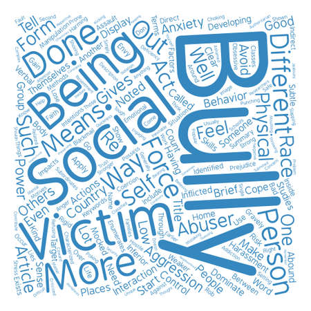 How To Cope With Bullies Word Cloud Concept Text Background Stock Vector - 73731363