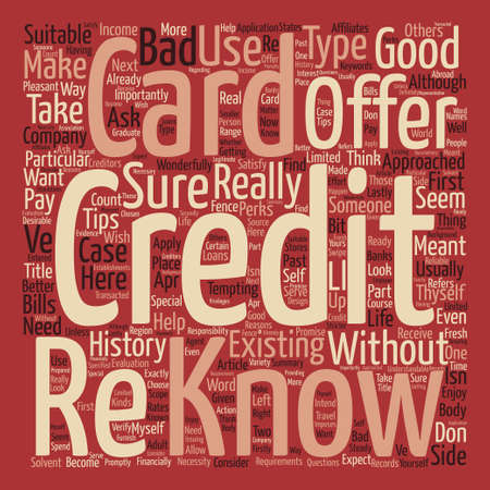 How To Know If A Credit Card Offer Is For You Word Cloud Concept Text Background
