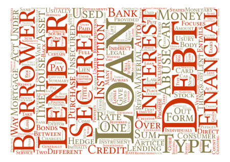 lent: What is Loan Word Cloud Concept Text Background