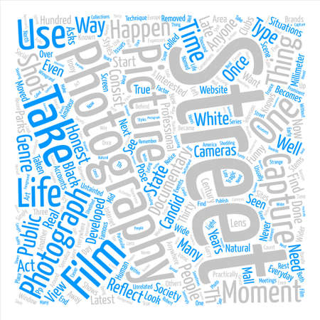Have You Seen The Latest Street Photography Word Cloud Concept Text Background