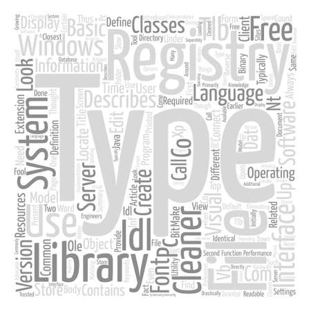 What Is Type Library And How Is It Related To The Registry Word Cloud Concept Text Background