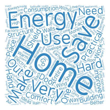 expected: Home energy lll text background word cloud concept
