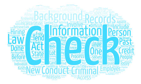 The Past Revealed Background Checks text background word cloud concept