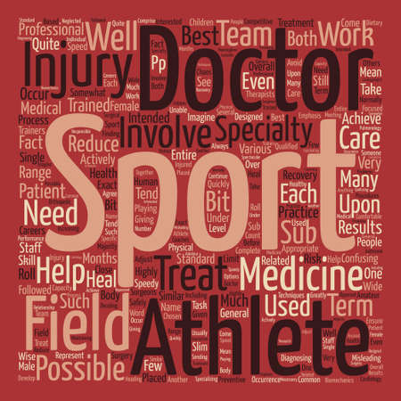 What is Sports Medicine Word Cloud Concept Text Background Ilustrace