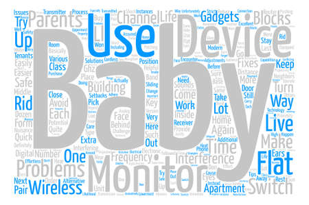 The Problems Behind Baby Monitors In Blocks Of Flats Word Cloud Concept Text Background Ilustração