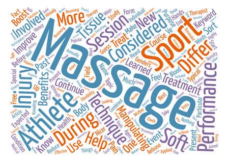 Sports Massage text background word cloud concept