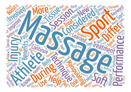Sports Massage text background word cloud concept