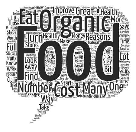Alimentos orgánicos por qué no debe dejar que el costo le quite concepto de nube de word de fondo de texto