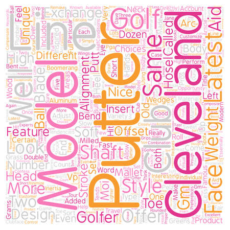 Cleveland Golf Putters text background wordcloud concept