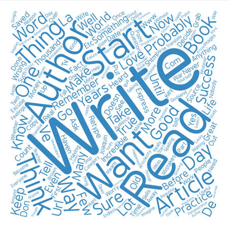 author: You Could Be An Author text background word cloud concept