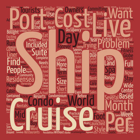 How You Too Can Live On A Cruise Ship Word Cloud Concept Text Background Illustration