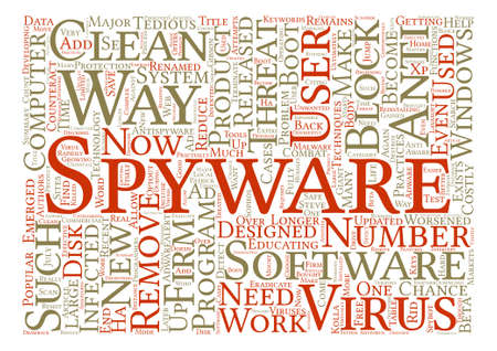 counteract: Spyware Eradicate It Now Word Cloud Concept Text Background Illustration