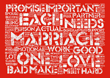 Marriage text background word cloud concept Illustration
