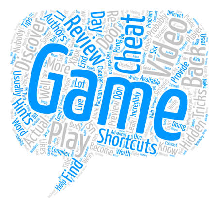 Video Games From Cheats And Tricks To Reviews text background word cloud concept