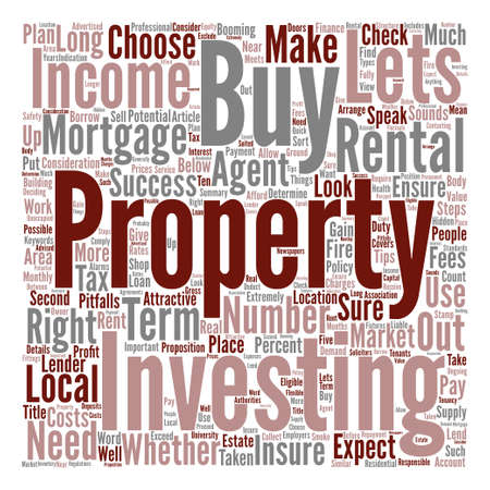 Tips For Buy To Let Investment Success Word Cloud Concept Text Background