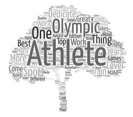 What Makes an Athlete Word Cloud Concept Text Background Illusztráció
