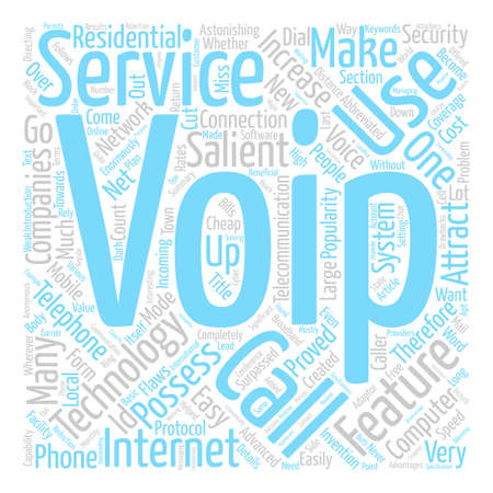 Voip Features That Attract People text background word cloud concept Illustration