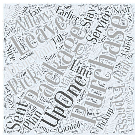 disneyland purchases package express Word Cloud Concept