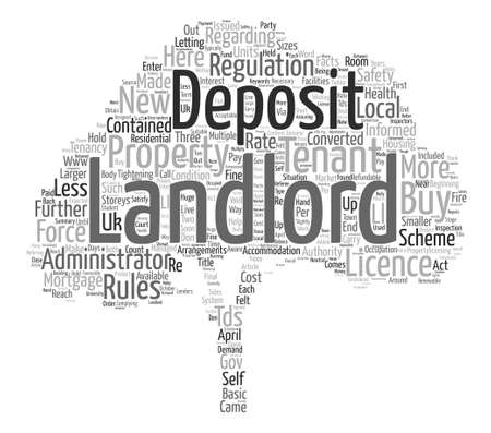 self contained: New Rules For Buy To Let Landlords Word Cloud Concept Text Background