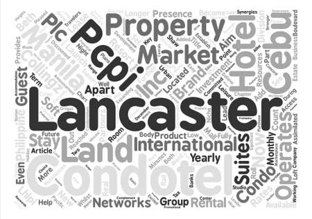 fully: Lancaster Hotels Land and Properties Inc text background word cloud concept